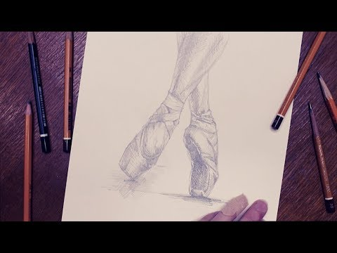 Пуанты графика / Pointe Shoes Graphics