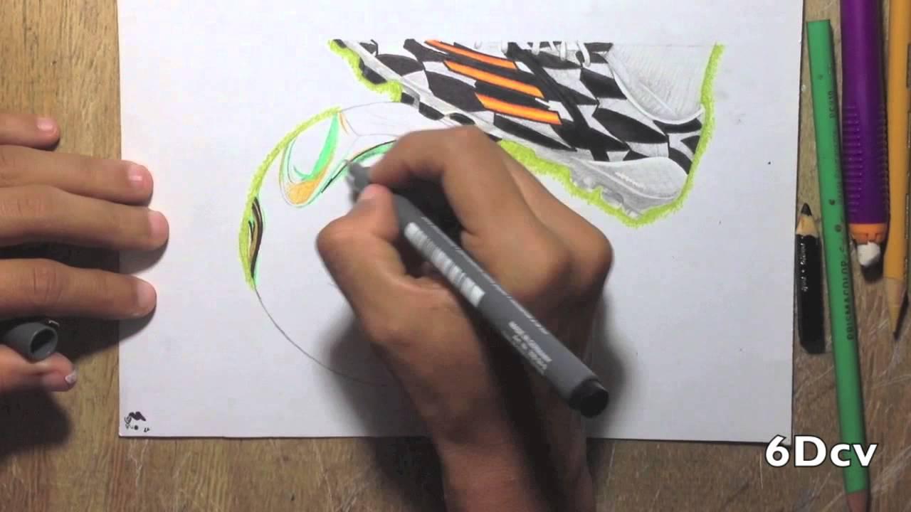 Dibujo del baln Brazuca para la final de La Copa Mundial Brasil