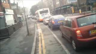 W416 JAT - 1708 - Finglands Bus Not Using Mirrors Invading Mandatory Cycle Lane