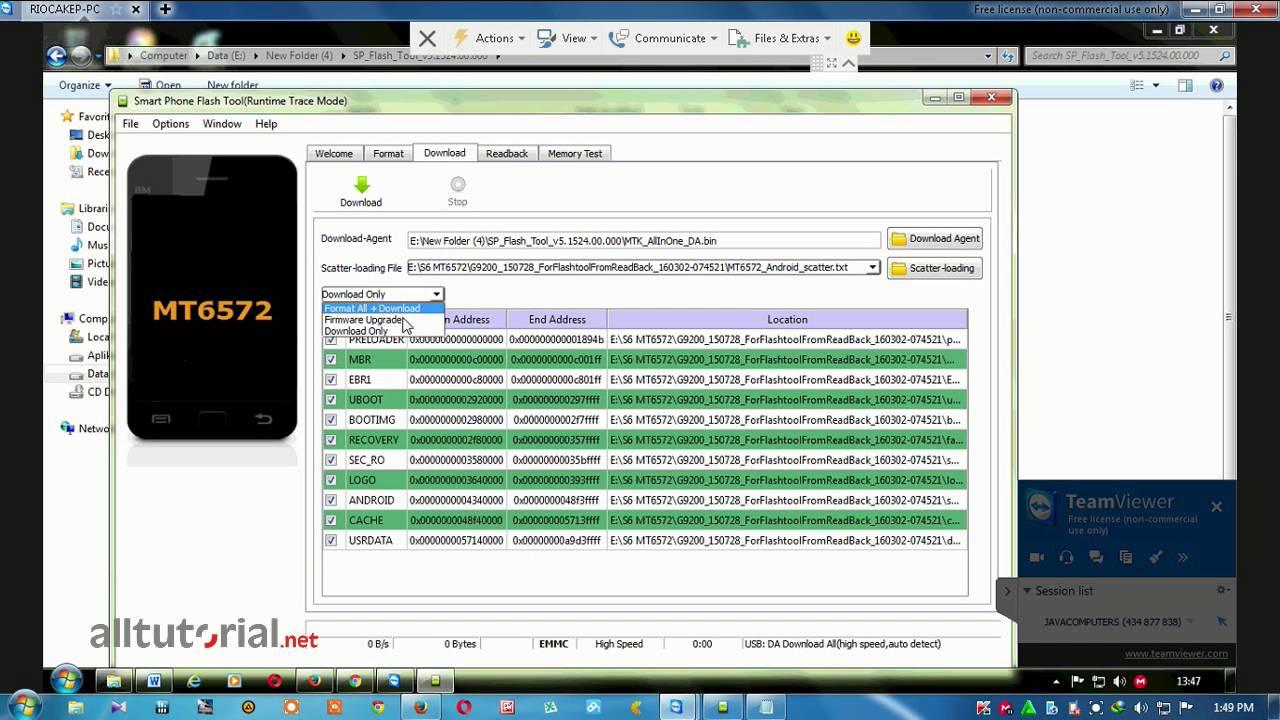 Cara Flash dan Firmware Samsung S6 Replika MT6572