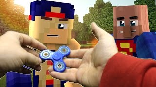 Realistic Minecraft: Fidget Spinner gives you Superpowers? (Minecraft Roleplay)
