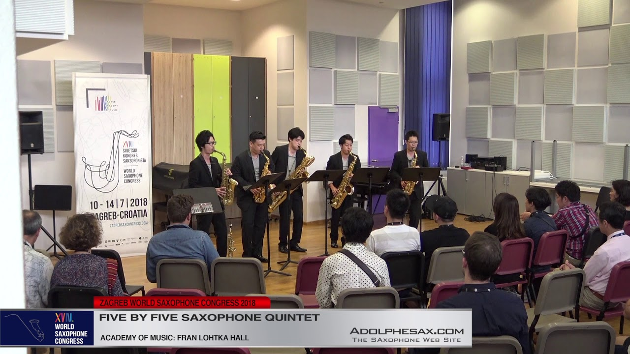 5 Pag 129   Five by Five Saxophone Quintet   XVIII World Sax Congress 2018 #adolphesax