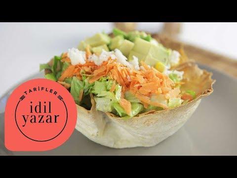 Tako Salata Nasıl Yapılır ? - Lavaştan Salata Kasesi - İdil Yazar - Yemek Tarifleri