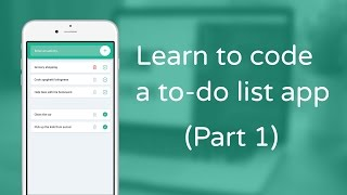 Learn to code a to-do list app in JavaScript - Part 1