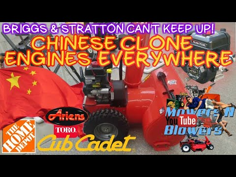 CHINESE CLONE ENGINES TAKING OVER THE SNOW BLOWER MARKET COULD PUT BRIGGS & STRATTON OUT OF BUSINESS