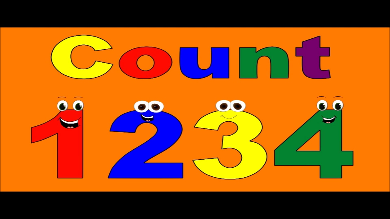 1234 Images numbers counting - counting 1234 - counting for children - count