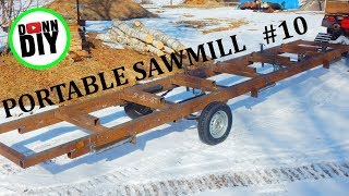 Completing The Trailer - Band Sawmill Build #10