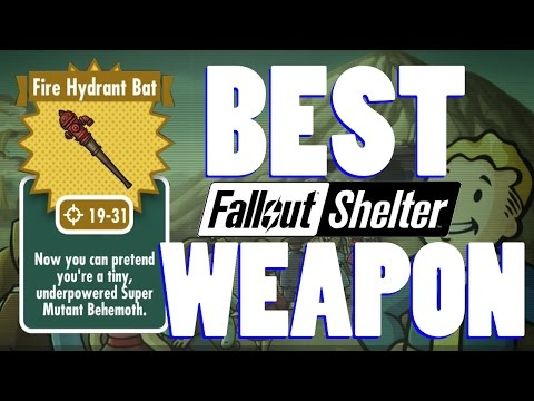 FIRE HYDRANT BAT BEST WEAPON! Fallout Shelter