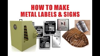 How to Etch Metal Signs, Metal Labels, Stainless Steel nameplate, transformers rating plate