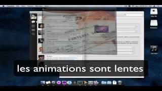 Animations ralentit mac