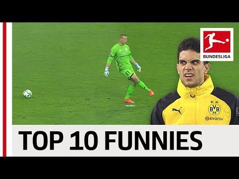 Funniest bundesliga moments 2017/18 so far - aubameyang, keita, neuer & more