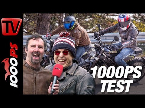 1000PS Test - Husqvarna Vitpilen versus Svartpilen 401 - Huskys voll entfesselt