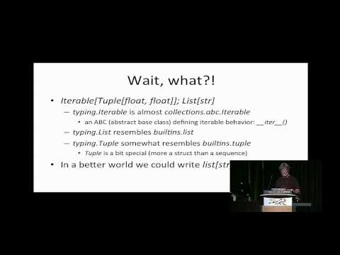 Type Hints  - Guido van Rossum - PyCon 2015