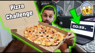 PIZZA CHALLENGE 🍕! ( Cat de rapid pot sa mananc o pizza 😲)