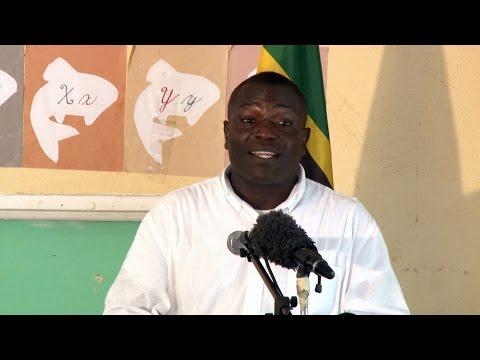Parl Rep Johnson Drigo addresses Castle Bruce Village Council Inauguration