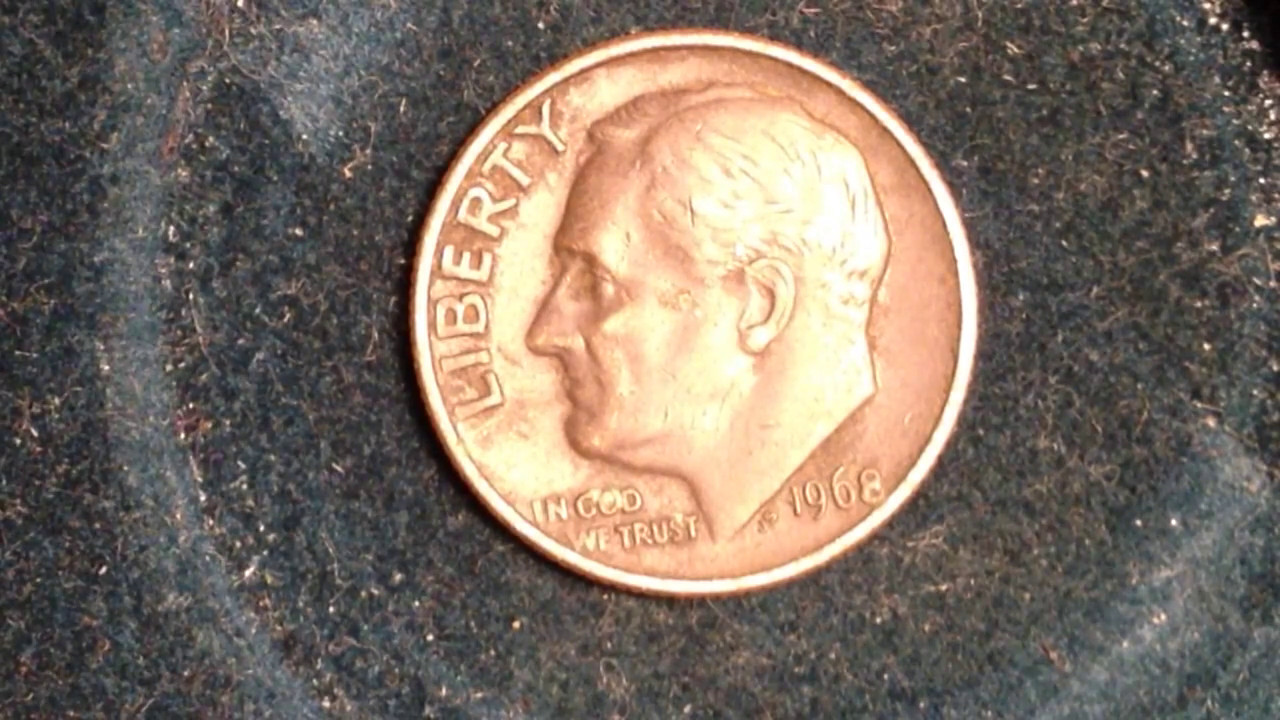 1968 Roosevelt Dime Mintage 424 Million Value Up To 6 For Raw Coin