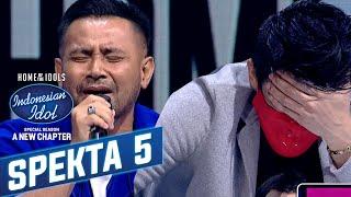 Download Dangdutan Lagi, Ariel Noah Ga Kuat Liat Judika - Spekta Show TOP 9 - Indonesian Idol 2021