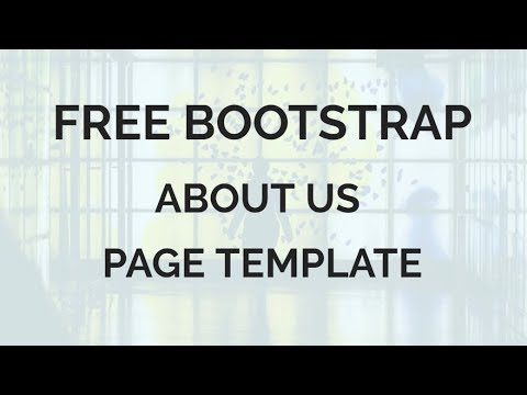 free bootstrap about us page template youtube