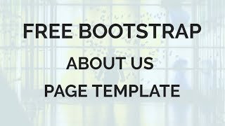 Free Bootstrap About Us Page Template thumbnail