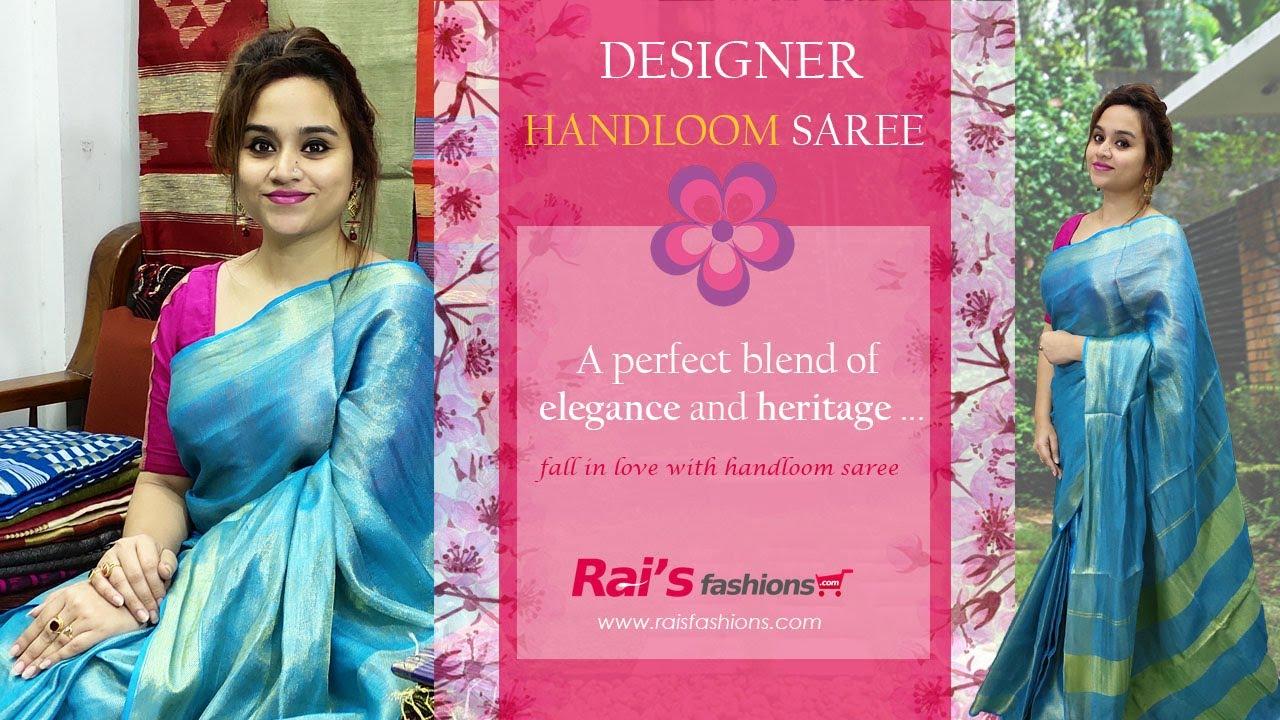 Designer Handloom Sarees A Perfect Blend Of Elegance Heritage 24th June 26rr Youtube