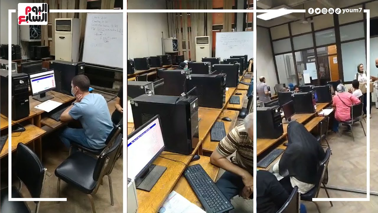 تنسيق المرحلة الثالثة .. توافد الطلاب على معامل التنسيق بهندسة القاهرة لتسجيل الرغبات  - 11:55-2021 / 9 / 19