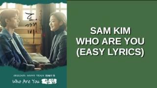 Cover images SAM KIM - WHO ARE YOU (EASY LYRICS)