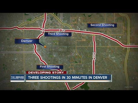 3 shootings in 30 minutes in Denver