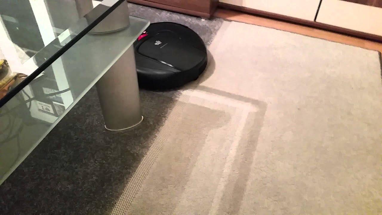 dirt devil navigator m 608 staubsauger roboter testfahrt ber teppich youtube. Black Bedroom Furniture Sets. Home Design Ideas