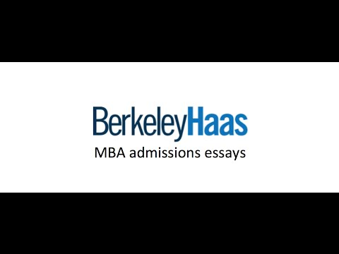 Mba admission essays services haas