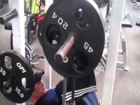 Mike O'Hearn and Whitney Reid Training Legs at Gold's Gym
