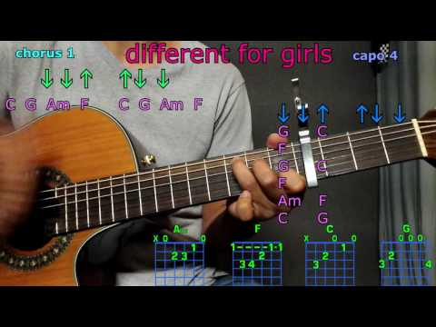 different for girls dierks bentley guitar chords