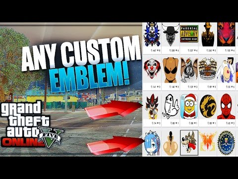 GTA 5 Online: How To Get ''CUSTOM CREW EMBLEMS'' [2017] Patch 1.40! EASY Custom Crew Emblem Tutorial