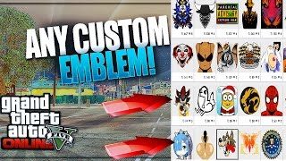 GTA 5 Online: How To Get ''CUSTOM CREW EMBLEMS'' [2018] Patch 1.44! EASY Custom Crew Emblem Tutorial