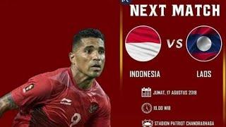 Indonesia vs Laos Asian Games 2018