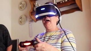 Familie mit Horror VR Spiel fast zu Tode erschreckt
