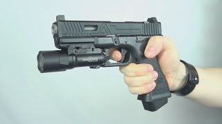 (Airsoft) RWA Agency Arms Urban Combat slide kit on a Glock 17 Marui