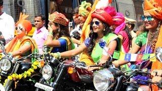 Girls Riding Harley Davidson And Royal Enfield Bikes In Gudhipadwa Shobhayatra