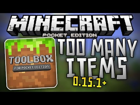 TOO MANY ITEMS for 0.15.1 - Toolbox Mod For MCPE Android is Back - Minecraft PE (Pocket Edition)