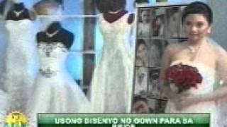 REJAY CRUZ  Presents Wedding Gown.. G.U.K. @ ABS-CBN Kapamilya TV Appearance 06.23.2011.