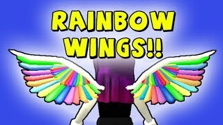 HOW TO GET THE RAINBOW WINGS ON ROBLOX! (IMAGINATION 2018 EVENT)