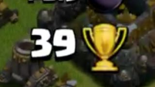 +39 Trophies In Defense In Champions League | Biggest Trophy Gain In Clash Of Clans