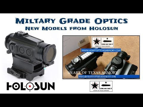 Holosun steps up thier game with new Military Grade HS515CM / GM