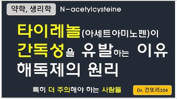 타이레놀(아세트아미노펜, 파라세타몰)이 간독성을 유발하는 기전, 해독제로 N-acetylcysteine을 쓰는 이유