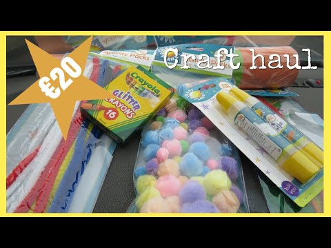 €20 Arts & Craft Supplies Haul