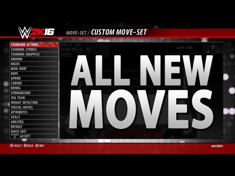 WWE 2K16: All New Moves, Comebacks & Taunts