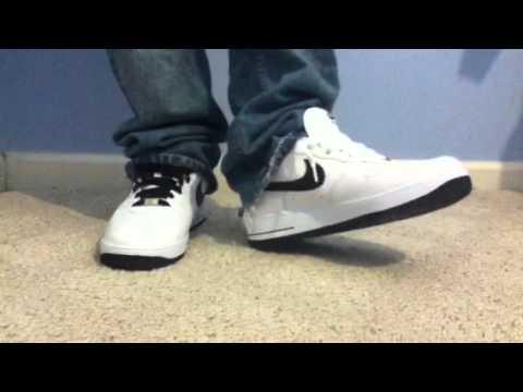 Nike Air Force Black/White on feet