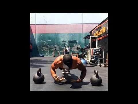 Michael Vazquez performing freestyle push-ups