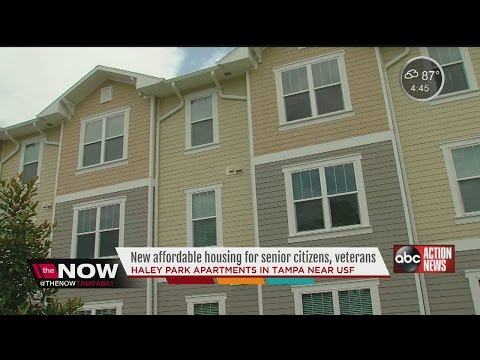 Haley Park Apartments offer new affordable housing for senior citizens, veterans