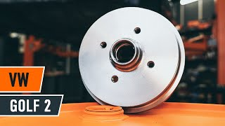 Replacing Brake Drum on VW GOLF: workshop manual