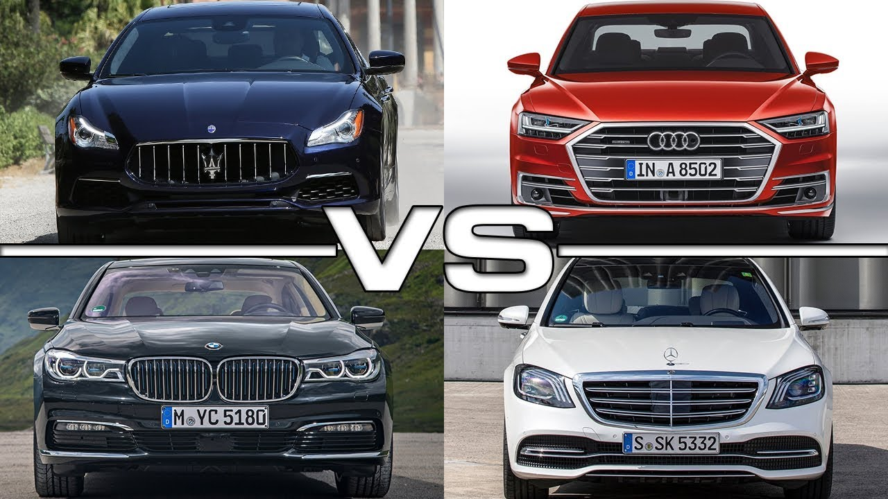 maserati quattroporte vs audi a8 vs bmw 7 series vs mercedes s class youtube. Black Bedroom Furniture Sets. Home Design Ideas